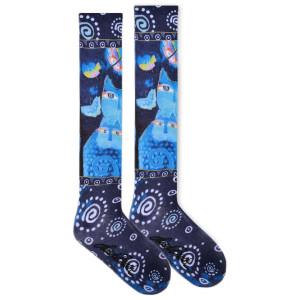 Laurel Burch Indigo Cats KNEE High Socks LBWF16N003-01