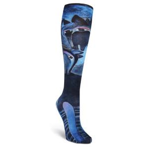 Laurel Burch Indigo Horses KNEE High Socks LBWF16N001-01
