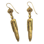 Laurel Burch Ancestor Woman Cast GoldTone Drop Earrings - CDR141B