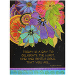 Laurel Burch Birthday Card - Blossoming: Front View