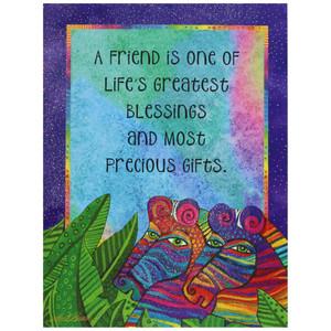 Laurel Burch Friendship Card - Dream a Dream Zebras : Front View