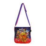 Laurel Burch Harmony Under Sun Foiled Canvas Crossbody Tote - LB6261