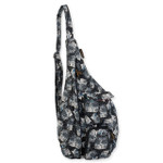 Laurel Burch Black White Polka Dot Wild Cats Quilted Cotton Sling Tote Bag LB6336
