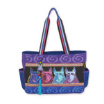 Laurel Burch Canine Tribe Medium Tote - LB6072
