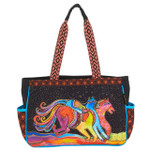 Laurel Burch Horse Caballos De Colores Medium Tote - LB6091