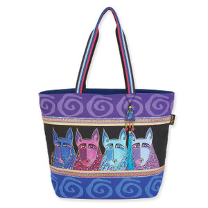 Laurel Burch Canine Tribe Large Shoulder Tote - LB6071