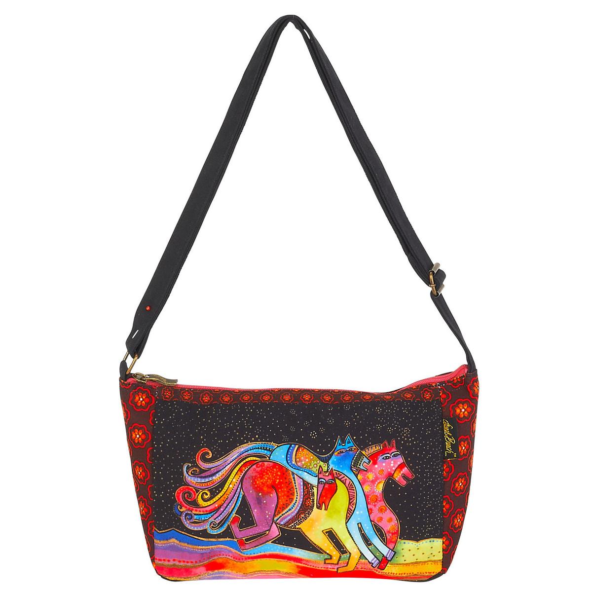 4f20600d4974 Laurel Burch Horse Caballos De Colores Crossbody Tote - LB6092