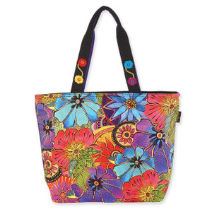 Laurel Burch Floral Flora Shoulder Tote - LB6230