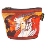 Laurel Burch Mythical Horses Cosmetic Clutch Pouch Moroccan Mares LB6290A