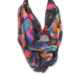 Laurel Burch Butterfly Artistic Infinity Scarf LBI210