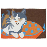 Cat On Pillow - Floor Rug JB-SFG012