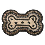 Black Stars On Black Dog Bone Rug DBP-313