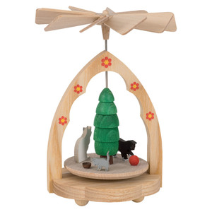 Mini Kittens Playing - Spinning Decoration