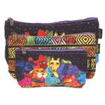 Laurel Burch Dog Canine Clan 3 BAG SET Cosmetic Bags