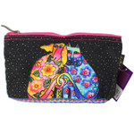 Laurel Burch Dog Cat Kindred Friends 10x6 Cosmetic Bags LB6557C
