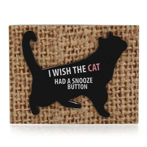 Cat Snooze Button Magnet 4039113