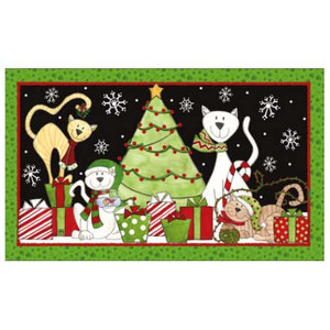Cat Theme Holiday Floor Mat - 18816D
