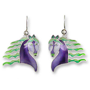 Handsome Horses Sterling Silver Drop Earrings 32-26-01