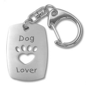Dog Lover Pewter Key Chain 3432KT