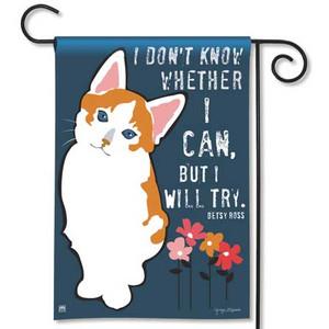 Cat I Will Try Garden Flag 39022D