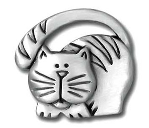 Cat with Tail Over Head Pin 3983CP