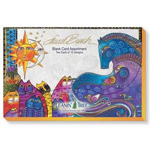 Laurel Burch Note Card Assortment - 20 cards - 10 Designs - AST90696