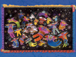 "Laurel Burch Card Birthday ""Feline Faeries"" - BDG13233"