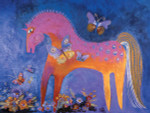 "Laurel Burch Card Birthday ""Mystical Mare"" - BDG13239"