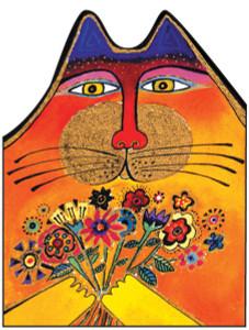 "Laurel Burch Card  Birthday - ""A Bunch of Love"" Cat - BDG44847"