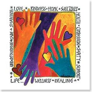"Laurel Burch Blank Note Card ""Love, Kindness..."" - BKQ23417"