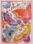 Laurel Burch Cat Thank You Note Cards Butterflies 8 in a Package - BTN35916