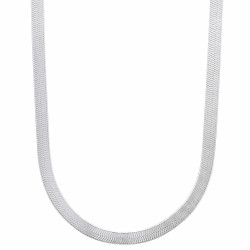 3.3mm Solid .925 Sterling Silver Flat Herringbone Chain Necklace