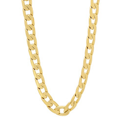 6mm 14k Yellow Gold Plated Beveled Curb Chain Necklace