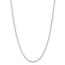 2.2mm Solid .925 Sterling Silver Round Rolo Chain Necklace