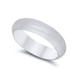925 Sterling Silver Nickel-Free 5mm Domed Wedding Band - Made in Italy