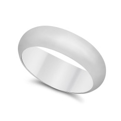 925 Sterling Silver Nickel-Free 6.8mm Domed Wedding Band - Made in Italy