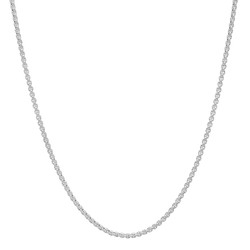 1.5mm High-Polished Stainless Steel Square Box Chain Necklace, 16'-30