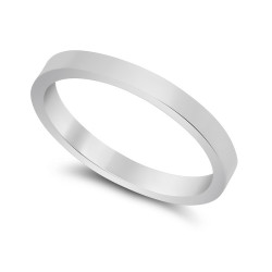 2mm 925 Sterling Silver Nickel-Free Flat Edged Wedding Band - Made in Italy