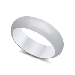 5.5mm 925 Sterling Silver Nickel-Free Domed Wedding Band - Made in Italy