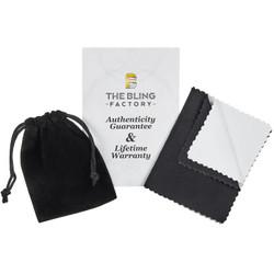 925 Sterling Silver Italian Crafted 21mm Multi-Princess Cut CZ Square Face Ring + Bonus Polishing Cloth