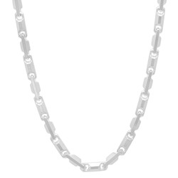 3.3mm Solid .925 Sterling Silver Round Heshe Chain Necklace