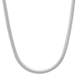 2.4mm High-Polished .925 Sterling Silver Round Snake Chain Necklace