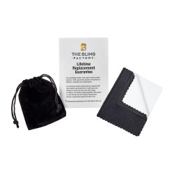 7mm Rhodium Plated Engravable Identification Solid Link Bracelet + Microfiber