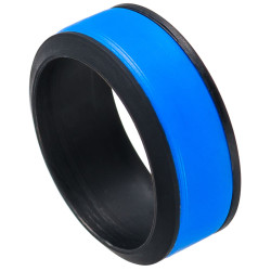 9mm Wide Silicone Blue Band Ring, Size 7,8,9,10,11,12,13,14 (US)