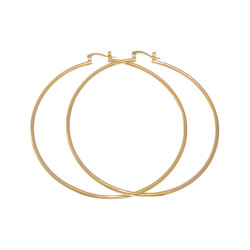 Gold Layered Classic 2mm Thick Hoop Earrings + Microfiber