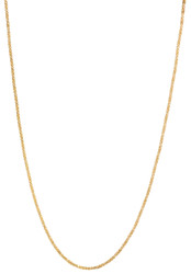1.1mm 14k Yellow Gold Plated Square Twisted Box Chain Necklace