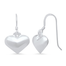 Women's High-Polished .925 Sterling Silver (Nickel Free) Drop Earrings + Jewelry Cloth & Pouch