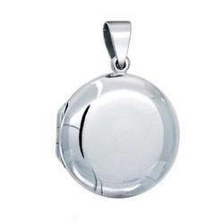 925 Sterling Silver Round Locket Pendant