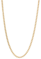 Women's 2.5mm Polished 0.25 mils (6 microns) 24k Yellow Gold Plated Cable Heart Link Chain Necklace
