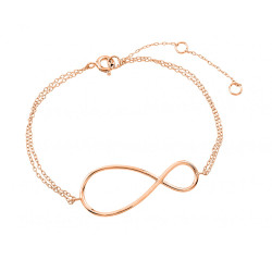41.7mm 0.16 mils (4 microns) Rose Gold Plated .925 Sterling Silver Cable Chain Anklet, 9 inches + Jewelry Cloth & Pouch